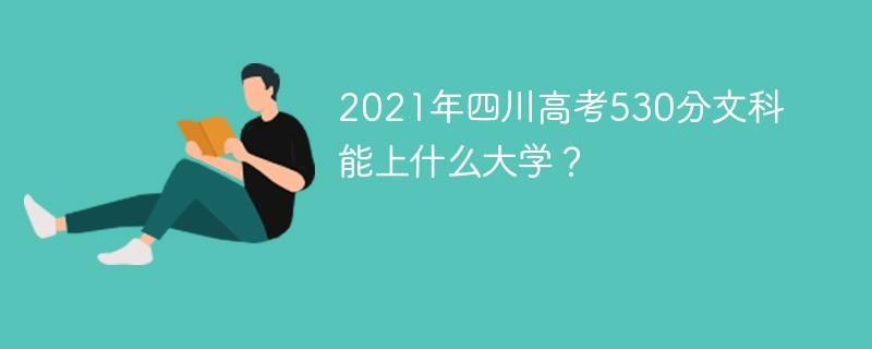 2021年四川高考530分文科能上什么大学?