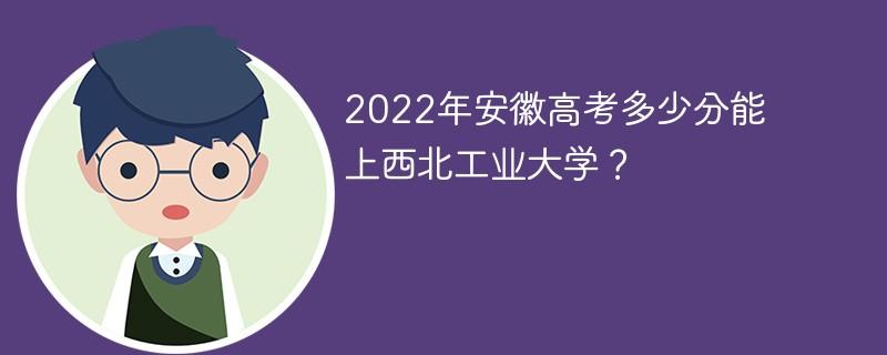 2022年安徽高考多少分能上西北工业大学?